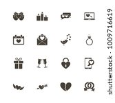 love icons. perfect black... | Shutterstock .eps vector #1009716619