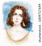 beautiful woman. fashion... | Shutterstock . vector #1009717699