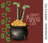 poster saint patricks day with... | Shutterstock .eps vector #1009721701