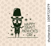 poster happy saint patricks day ... | Shutterstock .eps vector #1009722979