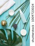 spa  cosmetics  creams  skin... | Shutterstock . vector #1009723024