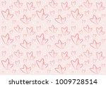 background pattern heart shape | Shutterstock .eps vector #1009728514