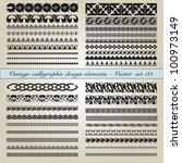 set of vintage calligraphic... | Shutterstock .eps vector #100973149