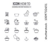simple set of howto cooking...   Shutterstock .eps vector #1009732651