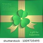 gift package clover green... | Shutterstock .eps vector #1009735495