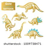 gold creative tattoo set of... | Shutterstock .eps vector #1009738471