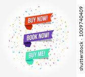 buy now  book now   buy me tags | Shutterstock .eps vector #1009740409