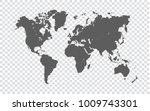 world map   gray map of world... | Shutterstock .eps vector #1009743301