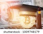 international graduation cap on ...   Shutterstock . vector #1009748179
