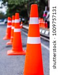 orange traffic cones in the... | Shutterstock . vector #1009757131