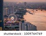the ferris wheel in bangkok ... | Shutterstock . vector #1009764769