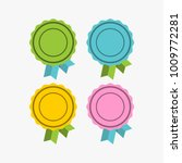 flat label tag with ribbon... | Shutterstock .eps vector #1009772281
