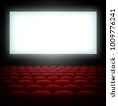 cinema hall with screen and red ... | Shutterstock .eps vector #1009776241