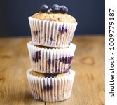 tasty muffin cupcakes with... | Shutterstock . vector #1009779187