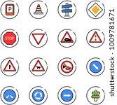 line vector icon set   parking... | Shutterstock .eps vector #1009781671