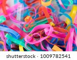 focus colorful rubber bands. | Shutterstock . vector #1009782541