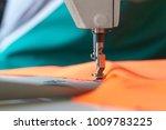 closeup of sewing machine head... | Shutterstock . vector #1009783225