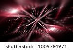 lights red background with rays.... | Shutterstock . vector #1009784971