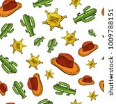cowboy seamless pattern. wild... | Shutterstock .eps vector #1009788151