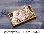 medicine set  antibiotics  cod... | Shutterstock . vector #1009789321