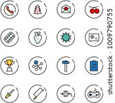 line vector icon set   phone... | Shutterstock .eps vector #1009790755
