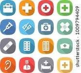 Flat Vector Icon Set   Doctor...