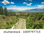 aerial view of road in the... | Shutterstock . vector #1009797715