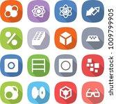 flat vector icon set   atom... | Shutterstock .eps vector #1009799905