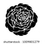 flower rose  black and white.... | Shutterstock .eps vector #1009801279
