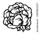 flower rose  black and white.... | Shutterstock .eps vector #1009801327