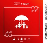 family under umbrella   family... | Shutterstock .eps vector #1009809814