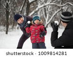 father  mother and son playing... | Shutterstock . vector #1009814281