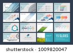 presentation slide template for ... | Shutterstock .eps vector #1009820047