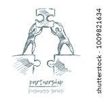 business concept  partnership... | Shutterstock .eps vector #1009821634