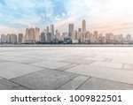 urban road square and skyline... | Shutterstock . vector #1009822501