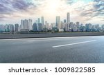 urban road square and skyline... | Shutterstock . vector #1009822585