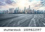 urban road square and skyline... | Shutterstock . vector #1009822597