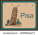 travel. italy. pisa. vacation...   Shutterstock .eps vector #1009826671