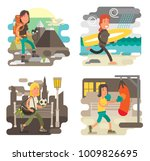 gritty strong woman character... | Shutterstock .eps vector #1009826695