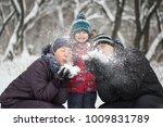 portrait of happy family... | Shutterstock . vector #1009831789