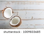 tropical fruit whole and half...   Shutterstock . vector #1009833685