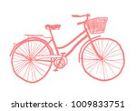 vintage style bicycle   quirky... | Shutterstock .eps vector #1009833751