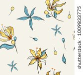 floral seamless pattern... | Shutterstock .eps vector #1009833775