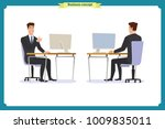 set of young male businessman.... | Shutterstock .eps vector #1009835011