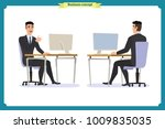 businessman consulting  ...   Shutterstock .eps vector #1009835035