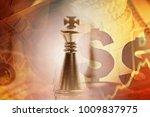 chess figure and finance data.... | Shutterstock . vector #1009837975