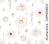 seamless romantic pattern with... | Shutterstock .eps vector #1009838821