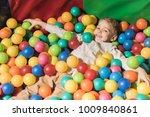 cute happy little boy playing...   Shutterstock . vector #1009840861