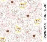 seamless romantic pattern with... | Shutterstock .eps vector #1009843909