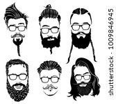 set of hairstyles for men in... | Shutterstock .eps vector #1009846945